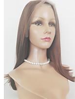 Недорогие -Натуральные волосы Лента спереди Парик Бразильские волосы Прямой 130% плотность Жен.