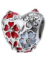 cheap -DIY Jewelry 1 pcs Beads Rhinestone Alloy Purple Pearl Pink Red Green Blue Flower Heart Bead 0.45 cm DIY Necklace Bracelet