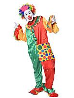 Недорогие -Клоун Цирк Косплэй Kостюмы Костюм для вечеринки Универсальные Карнавал Фестиваль / праздник Костюмы на Хэллоуин Цвет радуги Контрастных