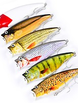 "cheap -6 pcs Fishing Lures Hard Bait Popper g / Ounce, 95 mm / 3.8"" inch, Plastic Sea Fishing Lure Fishing Trolling & Boat Fishing Outdoor"
