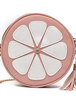 cheap -Women Bags PU Polyester Shoulder Bag Zipper Tassel for Casual All Season Brown Yellow Gray Blushing Pink Red