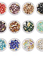 abordables -Ornements Stras Multicolore Translucide Nail Art Design