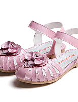cheap -Girls' Shoes Synthetic Microfiber PU Spring Summer Comfort Sandals for Casual Pink White Gold