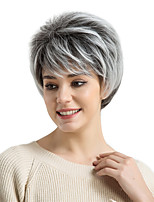 cheap -Wig For Women  Comfortable Grey  Natural  Short   Hair  Synthetic Wigs
