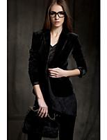 cheap -Women's Work Casual Fall Blazer Pant Suits,Print Shirt Collar Long Sleeve Polyester
