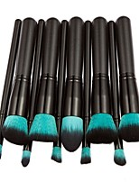 cheap -10 pcs Makeup Brush Set Nylon Eco-friendly Soft Travel Size Full Coverage Hypoallergenic Wooden Wood Face