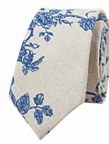 economico -Da uomo Per tutte le stagioni Cotone Casual Cravatta,Con stampe Beige