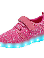 cheap -Girls' Shoes Tulle Spring Fall Comfort Sneakers for Casual Pink Blue Fuchsia Gray Black