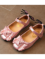 cheap -Girls' Shoes Leatherette Spring Fall Comfort Flower Girl Shoes Flats for Casual Pink Silver Gold