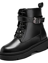 cheap -Women's Shoes Rubber Winter Fall Combat Boots Boots Low Heel Round Toe for Outdoor Black