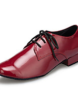cheap -Men's Latin Leather Sneaker Training Trim Low Heel Red Customizable