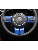 abordables -Cadre de volant automobile décor diy intérieur de la voiture pour jeep 2011 2012 2013 2014 2015 2016 2017 wrangler en plastique
