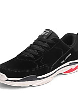 cheap -Men's Shoes Leatherette Spring Summer Comfort Sneakers for Casual Black Beige Red Almond
