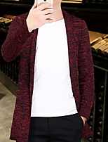cheap -Men's Cardigan - Print Round Neck