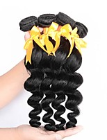 cheap -Brazilian Hair Loose Wave Human Hair Weaves Natural Color Hair Weaves Women's Daily