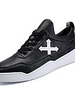 economico -Per uomo Scarpe PU sintetico Primavera Autunno Suole leggere Sneakers per Casual Bianco Nero