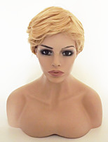 cheap -Women Synthetic Wig Short Wavy Light golden With Bangs Party Wig Natural Wigs Costume Wig