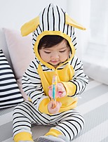 cheap -Girls' Holiday Striped Clothing Set,Cotton Spring Fall Long Sleeve Casual Yellow