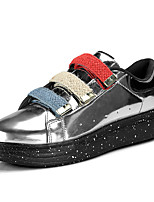 cheap -Men's Shoes PU Spring Fall Comfort Light Soles Sneakers Walking Shoes for Casual Party & Evening Red Silver Black
