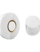 cheap -Wireless Doorbell Alarm Security 110-220V 52 Ringtones (IR Doorbell & 433MHz Human Sensor)