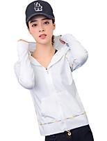 economico -Per donna Felpa e felpa con cappuccio Manica lunga Asciugatura rapida Antivento Traspirabilità Ultra sottile Top per Attività ricreative