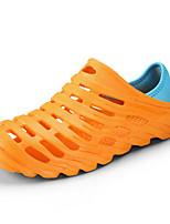 Недорогие -обувь Синтетика Лето Удобная обувь Тапочки и Шлепанцы для Повседневные Черный Оранжевый Серый Синий