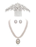 cheap -Women's Hair Combs Bridal Jewelry Sets Rhinestone Fashion European Wedding Party Imitation Pearl Imitation Diamond Alloy Body Jewelry 1