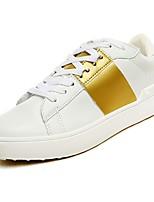 Недорогие -обувь Искусственное волокно Весна Осень Удобная обувь Кеды для Повседневные Золотой Серебряный Черно-белый Wit En Groen Вино
