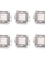 cheap -6PCS High Power 30W 1400LM Full color LED Chip DC68-77V