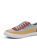 Недорогие -Муж. обувь Полотно Лето Удобная обувь Кеды для Повседневные Красный Синий Оранжевый и черный