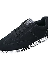 Недорогие -Муж. обувь Ткань Весна Осень Светодиодные подошвы Кеды для Повседневные Серый Черный и золотой Черно-белый