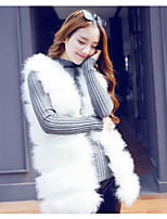cheap -Women's Daily Casual Winter Fall Vest,Solid V Neck Sleeveless Long Others Oversized