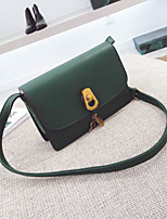 cheap -Women Bags PU Shoulder Bag Buttons for Casual All Season Khaki Black Green