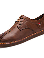 cheap -Men's Shoes PU Fall Comfort Oxfords for Casual Dark Brown Light Brown Black