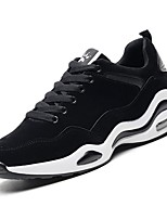 cheap -Men's Shoes PU Spring Fall Comfort Sneakers for Casual Black/White Black/Silver Gray
