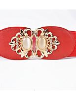 cheap -Women's Gold Waist Belt,White Black Red Camel Casual