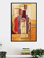 Недорогие -Известные картины Предметы искусства,Алюминиевый сплав материал с рамкой For Украшение дома Предметы искусства в рамках Спальня В