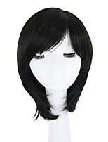 cheap -Synthetic Hair Wigs Straight African American Wig Side Part Pixie Cut Bob Haircut Capless Lolita Wig Natural Wigs Black