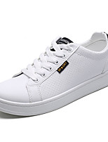 cheap -Men's Shoes PU Spring Fall Comfort Sneakers for Casual White Black/White