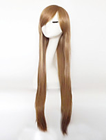 cheap -Synthetic Hair Wigs kinky straight With Bangs Capless Party Wig Long Gray Purple Brown Blue