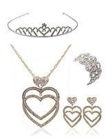 preiswerte -Damen Tiara Braut-Schmuck-Sets Strass Diamantimitate Aleación Geometrische Form Herz Modisch Europäisch Hochzeit Party Körperschmuck 1