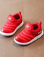 Недорогие -Девочки обувь Ткань Весна Осень Удобная обувь Обувь для малышей Кеды для Повседневные Черный Серый Красный Розовый