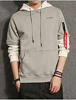 cheap -Men's Sports Hoodie Color Block Hooded Micro-elastic Polyester Long Sleeve Winter
