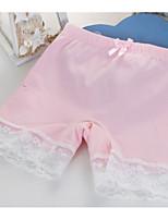 cheap -Girls' Solid All Seasons Underwear, Cotton Micro-elastic Simple Green White Orange Blushing Pink