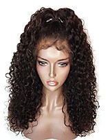 cheap -100% Human Virgin Hair Brazilian Lace Wig Curly With Baby Hair Full Lace Glueless Full Lace Natural Hairline 130% 150% 180% Density Black