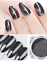 cheap -1pc Glitters Mirror Effect Sparkle & Shine Powder Nail Glitter Glitter Powder Black Nail Art Design