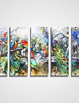 Недорогие -Отпечатки на холсте 5 панелей Холст Горизонтальная С картинкой Декор стены Украшение дома
