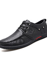cheap -Men's Shoes Synthetic Microfiber PU PU Leatherette Spring Summer Comfort Oxfords for Casual Black Gray Brown