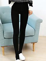 preiswerte -Damen Mittel Baumwolle Solide Einfarbig Legging,Schwarz Dunkelgray Grau
