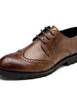 Недорогие -Муж. обувь Кожа Весна Осень Удобная обувь Мокасины и Свитер для Свадьба Повседневные Черный Коричневый